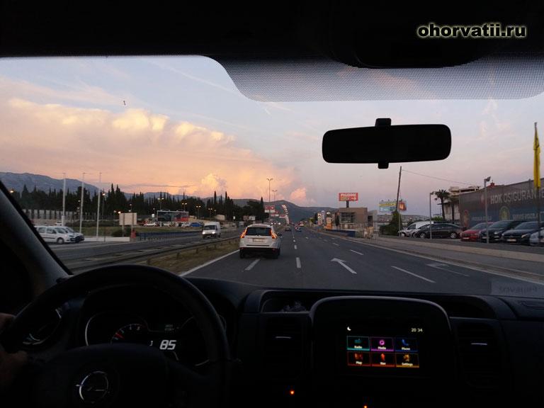 машина, дорога, Хорватия