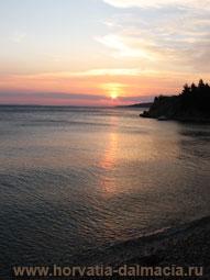 море, закат, Хорватия, Адриатика