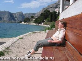 Отдых, море, Омиш, Хорватия