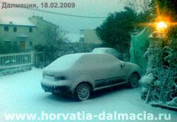 зима в Хорватии, снег в Хорватии