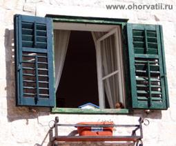 жалюзи, окно, Хорватия