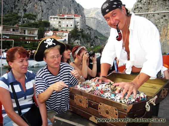 Пираты, Омиш, сундук, клад
