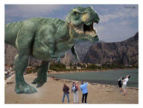 в Омише динозавры разбежались