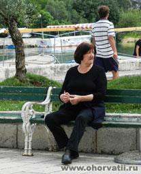 женщина в черном, хорватка
