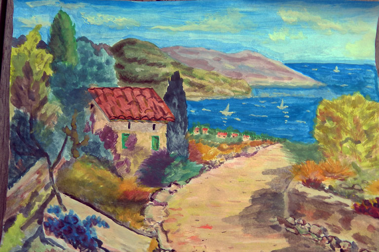 картина, море, Ольги