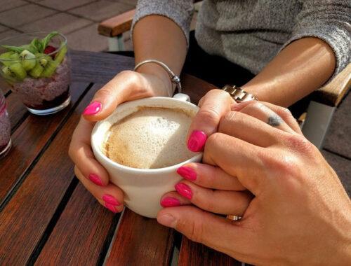 кофе, двое, романтика