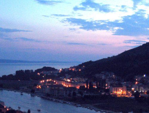 Омиш, вечер, Хорватия, Прико, виды