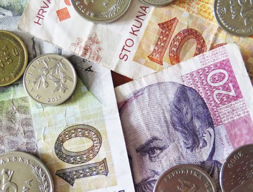 валюта, куны, хорватская, местная