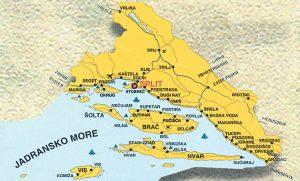 Карта, Средняя Далмация, скачать