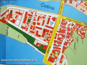 карта, Омиш, Хорватия, скачать, бесплатно, центр