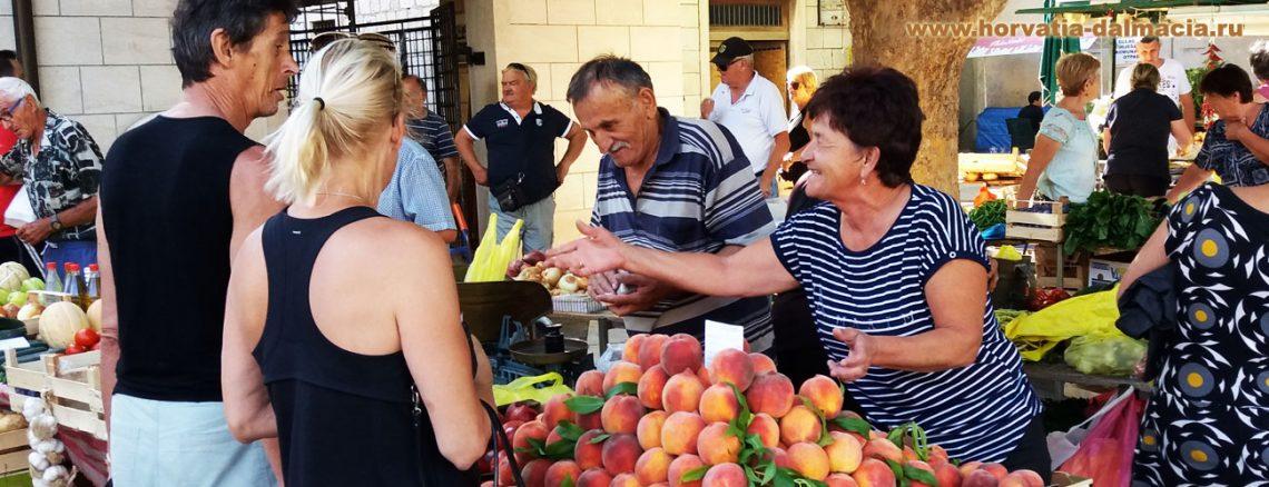 рынок, хорватский, натуральные продукты, Омиш