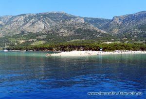Золотой мыс, Бол, Брач, Хорватия, пляжи, галечные, интересные места