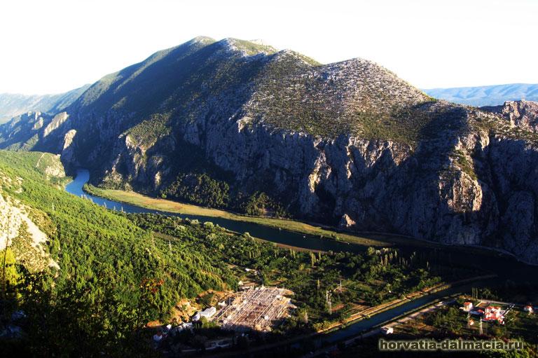 каньон, Цетина, Омиш, Хорватия, река