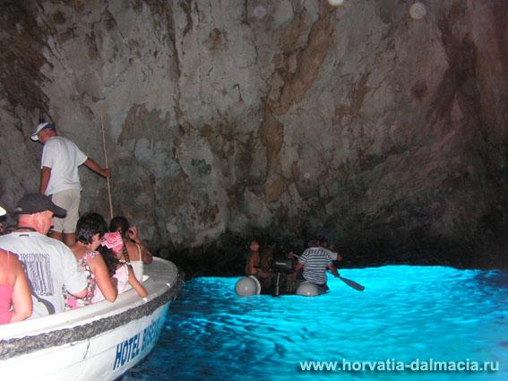 Голубая пещера, Бишево, Modra spilja, Хорватия