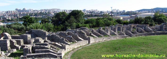 Солин, колизей, Сплит, Салона, развалины, древние, раскопки, Хорватия