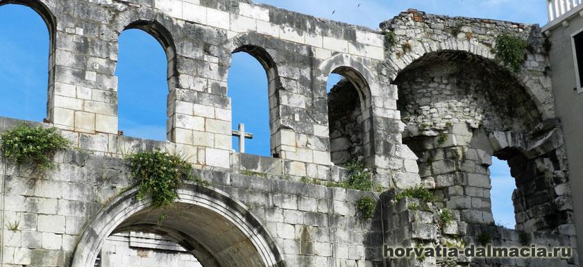 Сплит, дворец Диоклетиана, Сплит, Хорватия, стены