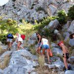 горная тропа, фортица, Омиш, Хорватия, подъем, активный отдых