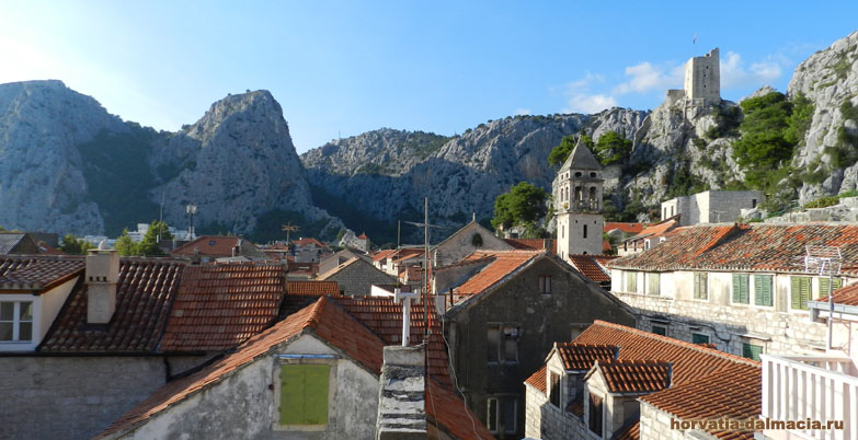 Омиш, фото, вид, старый город, Хорватия