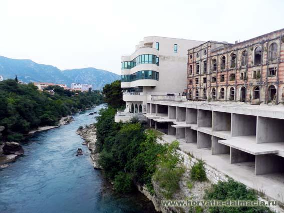 Мостар, Босния и Герцеговина, следы войны