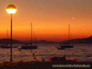 закат, солнце, Хорватия, острова