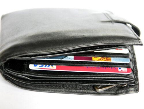 кошелек, банковские карты, виза