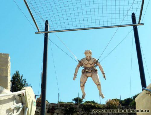 Првич, Фауст Вранчич, парашют, первые прыжки