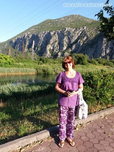 В каньоне реки Цетина (Омиш).
