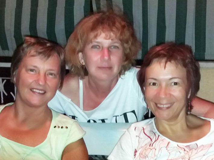 Мы и гостья из Венгрии - Чилла.